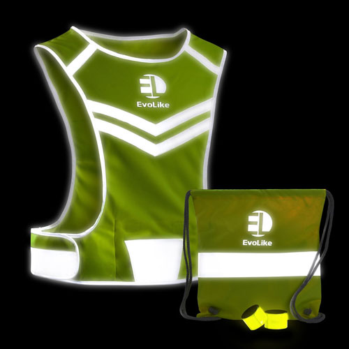 Reflective cycling vest with pocket