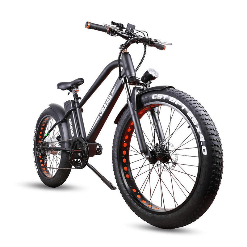 "NAKTO Black 26"" Electric Fat Tire Bike"